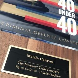Martin Caraves Top 40 Under 40 Badge