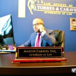 Attorney Martin Caraves on the phone