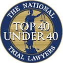The National Trial Lawyers Top 40 Under 40 Badge